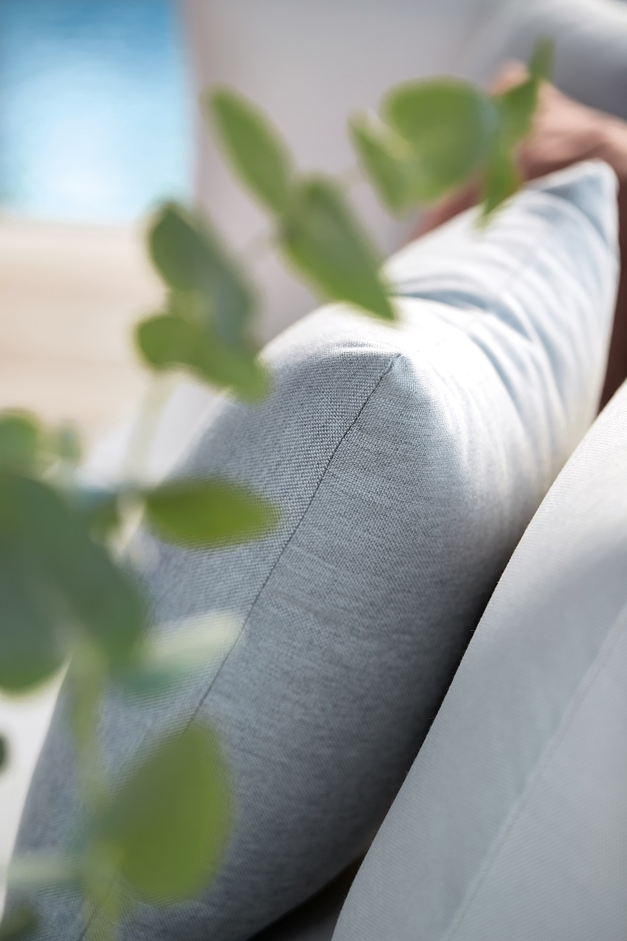 Coussins d'extérieur résistants de la marque Sunbrella